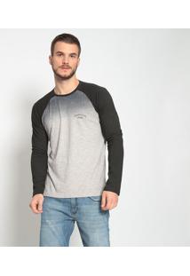 Camiseta Degrade Com Inscrição- Cinza & Preta- Calvicalvin Klein