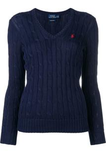 Polo Ralph Lauren Cable Knit Pullover - Azul
