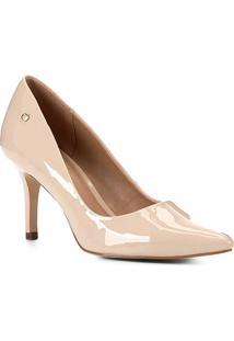 Scarpin Shoestock Salto Médio Naked - Feminino-Macadamia