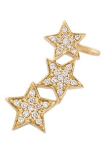 Alinka Ear Cuff De Ouro 18K Com Diamantes - Metálico