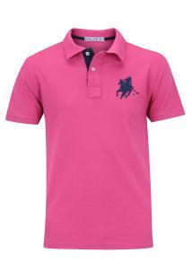 cb90e43626 ... Camisa Polo Polo Us Us1 - Masculina - Rosa Azul Esc
