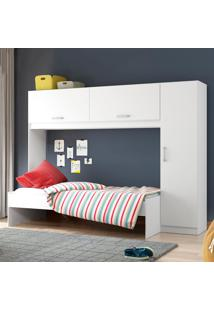 Quarto Infantil Completo Com Guarda-Roupa 3 Portas 2650.697 Branco/Bianco - Multimóveis