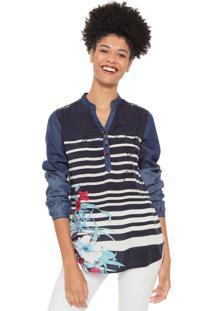 Camisa Desigual Judith Azul-Marinho
