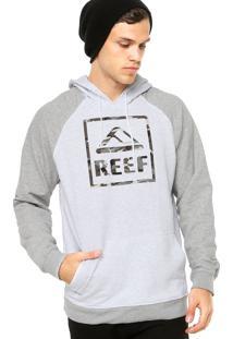 Moletom Reef Estampa Camuflada Branca/Cinza
