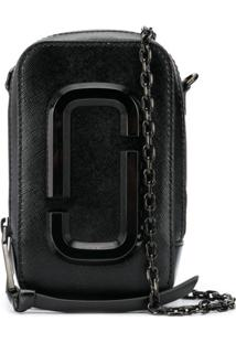 Marc Jacobs Rectangular Logo Bag - Preto