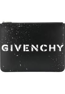 Givenchy Clutch 'Stencil' De Couro - Preto