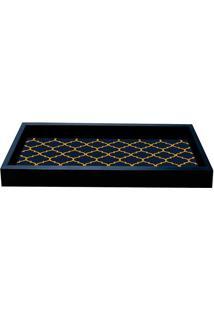 Bandeja Para Lavabo Geometrica 15X30-Kapos - Preto