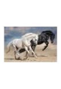 Painel Adesivo De Parede - Cavalos - Animais - 1732Pnp