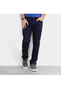 Calça Jeans Reta Calvin Klein Masculina - Masculino-Marinho