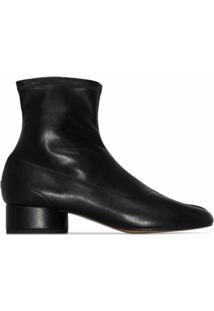 Maison Margiela Ankle Boot Tabi Com Salto 30Mm - Preto
