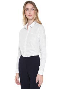 Camisa Lacoste Listrada Branca/Azul