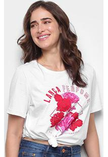 Camiseta Lança Perfume Descolada Roses Feminina - Feminino