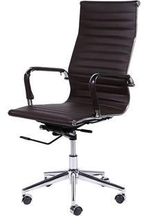 Cadeira Office Eames Esteirinha- Café- 114X61X46,5Cmor Design