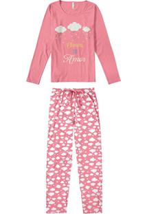 Pijama Estampado Nuvens Malwee Liberta