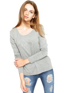Blusa Calvin Klein Jeans Manuscrita Cinza