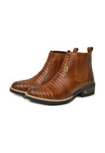 Bota Bico Redondo Jm Country Texana Caramelo 44