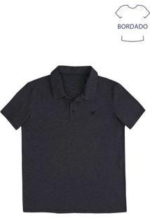 Camisa Polo Básica Masculina Em Malha De Algodão Fio A Fio
