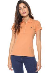 Camisa Polo Aleatory Logo Laranja