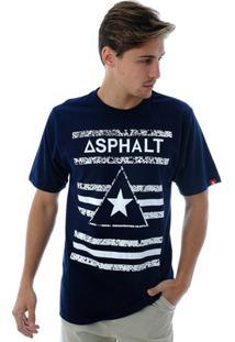 Camiseta Asphalt Delta Star - Masculino-Marinho