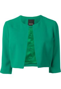 Pinko Jaqueta Slim Cropped - Green