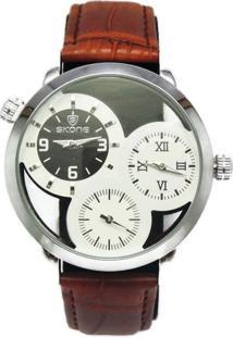 Relógio Skone Analógico 9274Eg Marrom