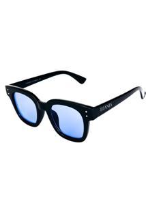 Óculos De Sol Titânia Preto Com Lente Azul