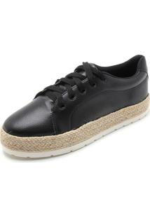 Tênis Sola Alta Dafiti Shoes Espadrille Preto