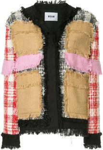 Msgm Contrast Tweed Jacket - Estampado