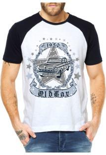 Camiseta Raglan Criativa Urbana Carro Clássico 1950