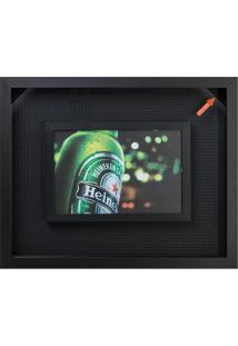Quadro Porta-Tampas Heineken Ii Preto