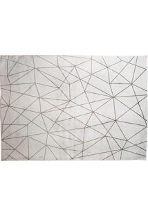Tapete Belga Geometric Desenho 01 1.00X1.40 - Edantex - Cinza