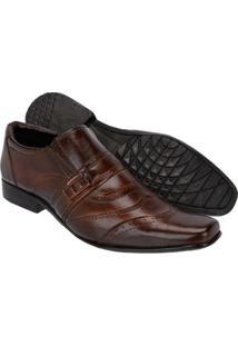 Sapato Social Couro Leoppé Masculino - Masculino-Marrom