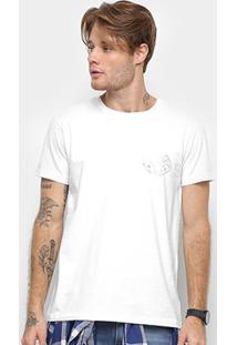 Camiseta Cavalera Estampa Reis Masculina - Masculino-Branco