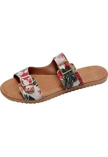 Rasteira Jane Birken Tropical Multicolor