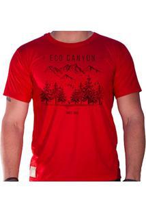 Camiseta Masculina Eco Canyon Draw Camp Vermelho