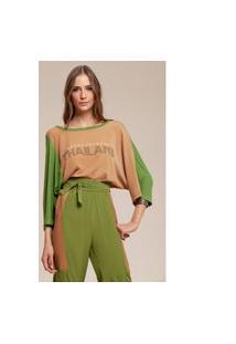 T-Shirt Acostamento Aplicação Verde