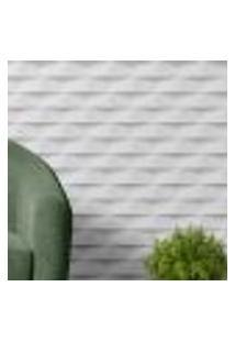 Papel De Parede Adesivo Autocolante Com Efeito 3D Sombras Branco E Cinza
