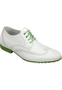 Sapato Social Oxfrod Sandro Moscoloni May Masculino - Masculino-Branco