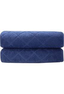 Toalha De Rosto Quartzo- Azul Marinho- 45X70Cm- Camesa