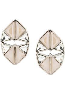 Camila Klein Par De Brincos Vazado Triângulos - Prateado