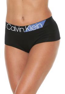 Calcinha Calvin Klein Underwear Boyshort Bold Preta
