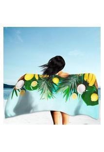 Toalha De Praia / Banho Fruits Único