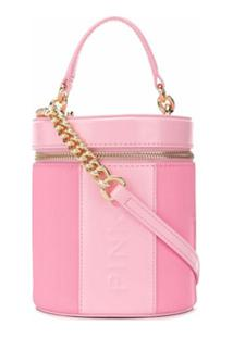 Pinko Bolsa Com Logo Gravado - Rosa