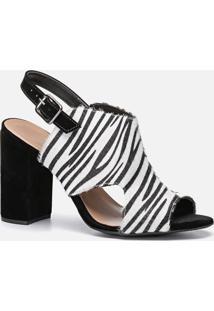 Sandália Feminino Milano Zebra/Alpes Preto 10757