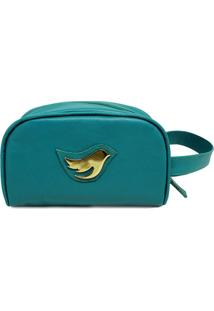 Necessarie De Couro Little Bird - Verde