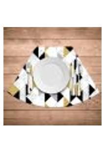 Jogo Americano Para Mesa Redonda Wevans Triângulos Kit Com 4 Pçs