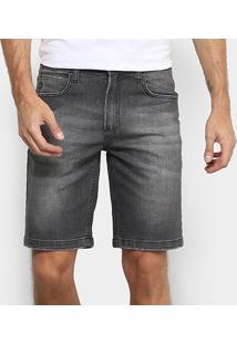 Bermuda Jeans Hang Loose 5 Pockets Black Hl3015 Masculina - Masculino