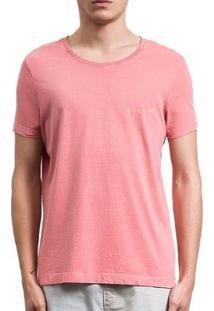 Camiseta Salt 35G Básica Estonada Goiba Masculina - Masculino-Rosa