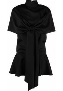 Atu Body Couture Vestido Oversized Com Detalhe De Laço - Preto