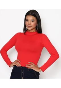 Blusa Cropped Lisa- Vermelhatrifil